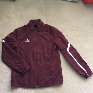 Maroon Adidas Track Jacket